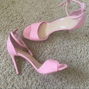 barbie pink strapy heels (7.5) forever 21
